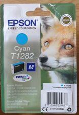 Epson T1282 Cyan Ink Cartridge for Stylus SX235w SX425w SX130 SX435w. SEALED.
