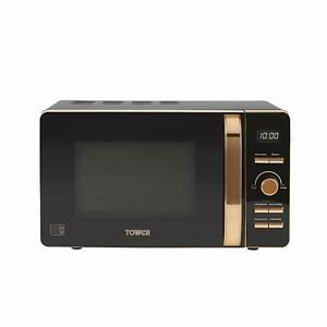 Tower T24021 Digital Solo Microwave, 800 W, 20 Litre, Black- Box Damage