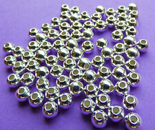 4.0 Mm Plata 925 Ronda Impecable espaciador granos 12pcs.