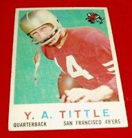 1959 FOOTBALL Y.A. TITTLE TOPPS CARD #130 VG/EX