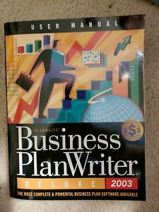 Business Plan Writer 2003 Deluxe PC CD create print company documents, templates