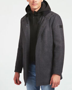 New Mens Guess Padded Grey Coat Size M £120 Or Best Offer RRP £185