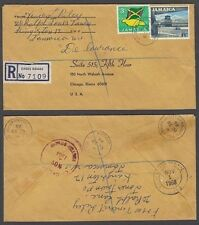 JAMAICA 1968 REGISTERED COVER TO US CROSS ROADS 1/9. RATE (ID:621/D28775)