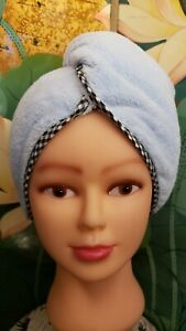 Dry Wet Hair.Thick Microfiber Towel Turban.Water Absorbent Dry Hair 5X's Faster.