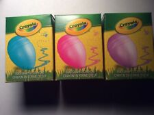 Crayola Easter Egg Shaped crayons. Pink Purple Blue lot. 2.5 inches length. New