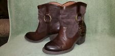 Lucky Brand Harness Boots Ankle Boots 6.5M 36.5EU Brown Leather & Suede