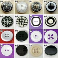 5 PCS Resin Big Buttons Lots Craft Sewing Coat Jacket DIY High Quality U Pick