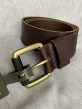 Timberland  Brown Men Belt Leather 34 New