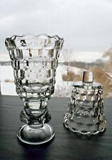 2 Home Interiors Homco Lady Love Clear Glass Votive Candle Holders Sconce Cups