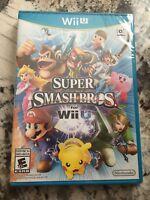 Super Smash Bros. Brothers Genuine Nintendo Wii U Brand New Factory Sealed