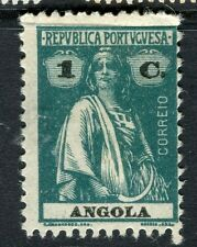PORTUGUESE ANGOLA;  1914-20s early Ceres issue fine Mint hinged 1c. value