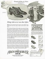 1920s BIG Original Vintage Selby Arch Preserver Shoe Footwear Art Print Ad