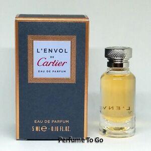 CARTIER L'ENVOL * 0.16 oz (5.0 ml) Edp Splash * MINI Sample * NEW in BOX