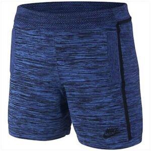 Nike Women's Tech Knit Shorts Hyper Cobalt/Blue Sz M 747980 439 Retail $120 MA