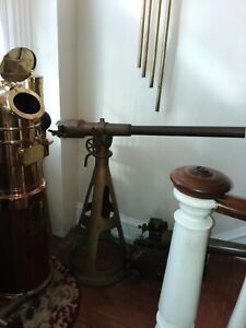 solid bronze antique yacht signal cannon by Naval Electric Co. New York