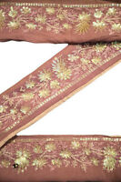 Vintage Indian Ribbon Saree Border Embroidered Trim Sari By 1Yd ST1992