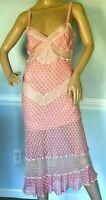 Missoni Orange Label Embroidered Crochet Pink Sun Dress + Sweater US 4 6 / IT 42
