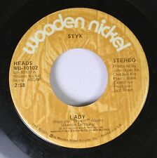 Rock 45 Styx Lady / Children Of The Land On Wooden Nickel