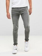 Men's Jack And Jones Intelligence Jeans In Grey 28/30 Skinny Fit