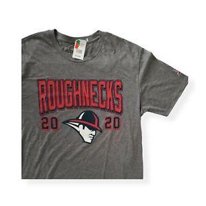 Houston Roughnecks XFL Football logo Medium Tshirt Gray Red NWT GIII Carl Banks