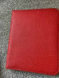 VINTAGE RED CONNOISSEUR ZIPPED WRITING CASE