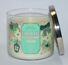 BATH & BODY WORKS CHOCOLATE PEPPERMINT CREAM SCENTED CANDLE 3 WICK 14.5OZ LARGE