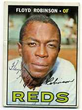 Signed Autographed 1967 Topps #120  FLOYD ROBINSON  Reds  PSA Guarantee