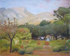 Georges CHERON (1891-1979) HsT 1931 Alpes provençales Provence Impressionnisme