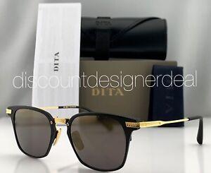 DITA UNION Sunglasses DRX-2068-A-T-BLK-GLD Black Gold Frame Gold Mirror Lens 49