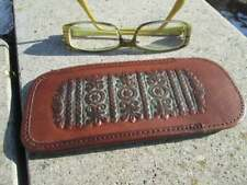 Embossed glasses case, Tooled leather case
