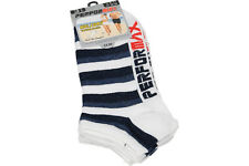 Mens Soft Cotton Holiday Trainer Ankle Socks 12 pack Block Stripes  gifts