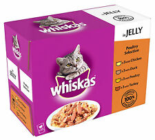 Whiskas Core Pouch Multipack 12x100g Poultry Selection in Jelly Adult Cat