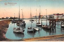 BLANKENBERGHE LE BASSIN BELGIUM SHIPS GERMANY FELDPOST POSTCARD 1917 (81)