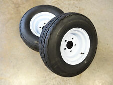 TWO New 20.5X8.0-10 Hi-Run Trailer Tires 10 ply on 5 Hole Wheels 20.5X8.00-10