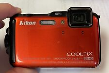 Nikon Coolpix AW120 16.0MP Digital Camera - Orange - Excellent condition used