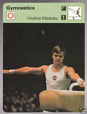 1979 Vladimir Markelov Sportscaster Gymnastics Olympics Card #101-23
