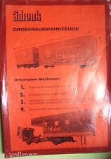 ventes brochures ancien ORIGINAL prospektblatt Schenk grossraumfahrzeuge