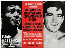 Floyd Patterson vs Roy Harris *LARGE POSTER* Heavyweight BOXING Title Fight 1958