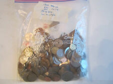 ALMOST 2 LBS OF VINTAGE WORLD WIDE COINS - TOTALLY UNSEARCHED - MEXICO & MORE