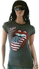Amplified Official ROLLING STONES USA lengua rock star VINTAGE VIP T 40