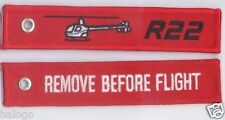 "ROBINSON R22 HELICOPTER ""REMOVE"" KEYCHAIN  - KEY022"