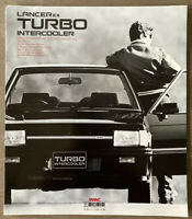 1984 Mitsubishi Lancer EX Turbo Intercooler original Japanese sales brochure