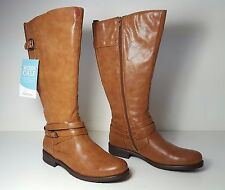 size 7 Bare Traps Corrie Wide Calf Brown Knee High Riding Womens Boots