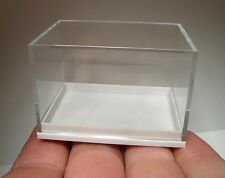 10 PIECE SET OF 6 x 4 x 4 CM CLEAR TOP-WHITE BASE GERMAN MINERAL DISPLAY CASES!
