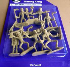 Mini Mummy Army Set 10 Figurines Miniature Plastic Halloween Cake Decorating New