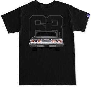 1963 Impala rear bumper chrome grille guard light black T Shirt