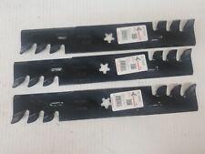 """Qty-3 16-1/4"""" Rotary 15-14208 Mulching Blade for 48"""" Cut. Husqvqarna: 522037401"""