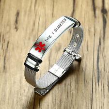 Women Alert Id BangleType 1 Diabetes Medical Bracelet Emergency Life Saving Men