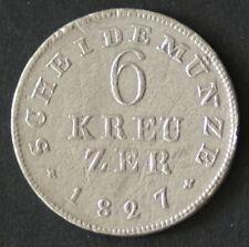 6 Kreuzer Grossherzugsthum Hessen 1827