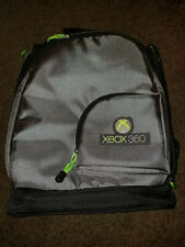 XBOX 360 Backpack Protective Carrying Case Black Gray & Green LIKE N E W